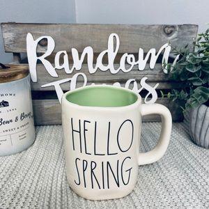 NWT Rae Dunn HELLO SPRING (Green) Mug